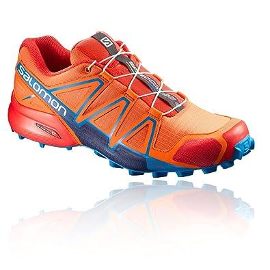 new style 7b02a 48002 Salomon Speedcross 4, Chaussures de Randonnée Basses Homme,  Multicolore-écarlate Orange (