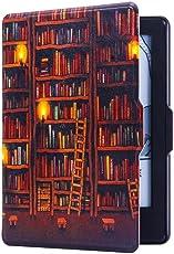 Bull spring Funda para Kindle Paperwhite, Cubierta de Cuero de la PU,Carcasa con Soporte Función, Auto-Sueño (Biblioteca)