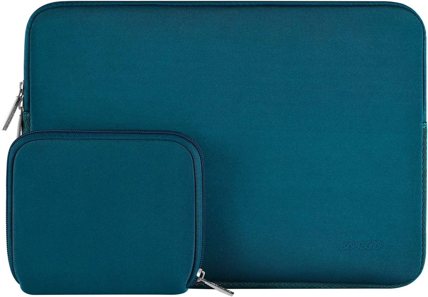 MOSISO Laptop Sleeve Compatible with 15 inch MacBook Pro Touch Bar A1990 A1707, ThinkPad X1 Yoga, 14 Dell HP Acer, 2019 Surface Laptop 3 15, Water Repellent Neoprene Bag with Small Case, Deep Teal