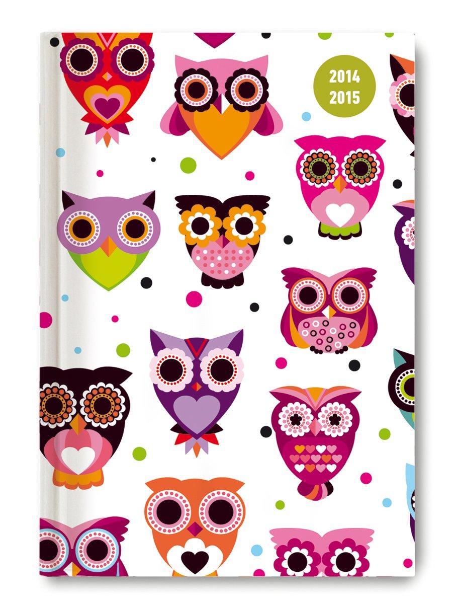 Collegetimer Owls 2014/2015 - Schülerkalender A5 - Day By Day - 352 Seiten