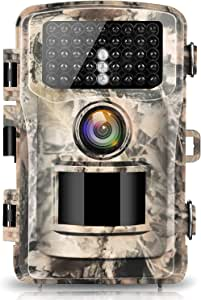 "【2020 upgrade】Campark Trail Camera 16MP 1080P 2.0"" LCD Game & Hunting Camera with 42pcs IR LEDs Infrared Night Vision up to 75ft/22m for Wildlife Scouting Digital Surveillance Waterproof IP66"