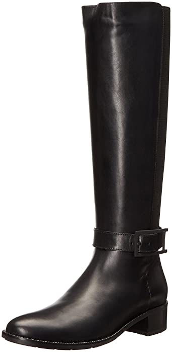 Aquatalia Women's Orella Calf Riding Boot, Black, ...