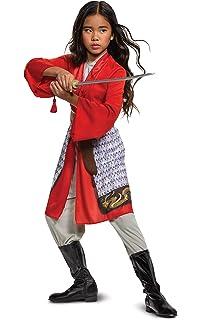 Amazon Com Disney Mulan Costume For Kids Multi Clothing