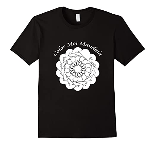 Mandala Tee Shirt That Can Be Colored With Fabric Markers