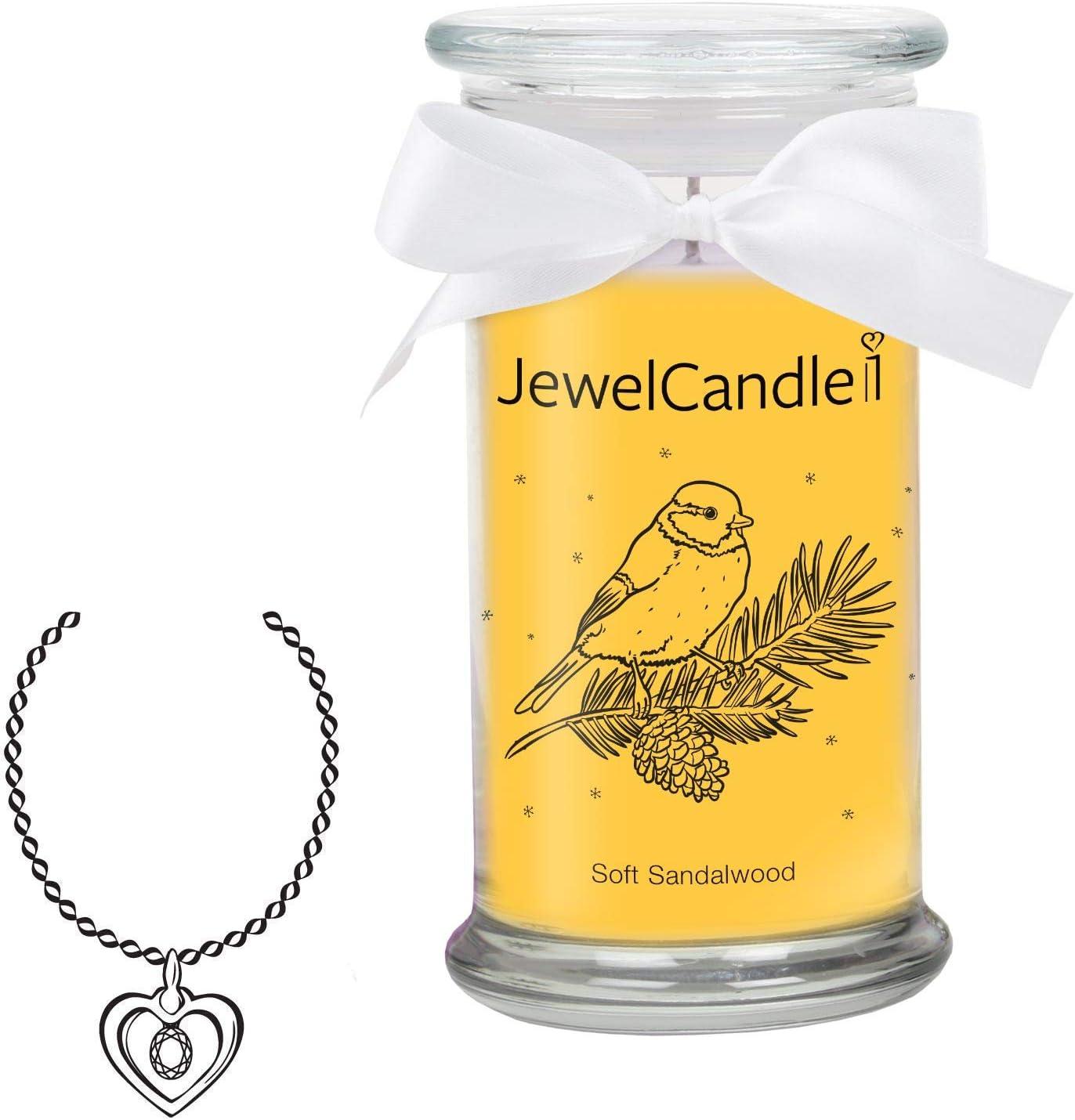 Bougie Parfum/ée avec Bijou Surprise en Argent XS Bague JewelCandle Soft Sandalwood