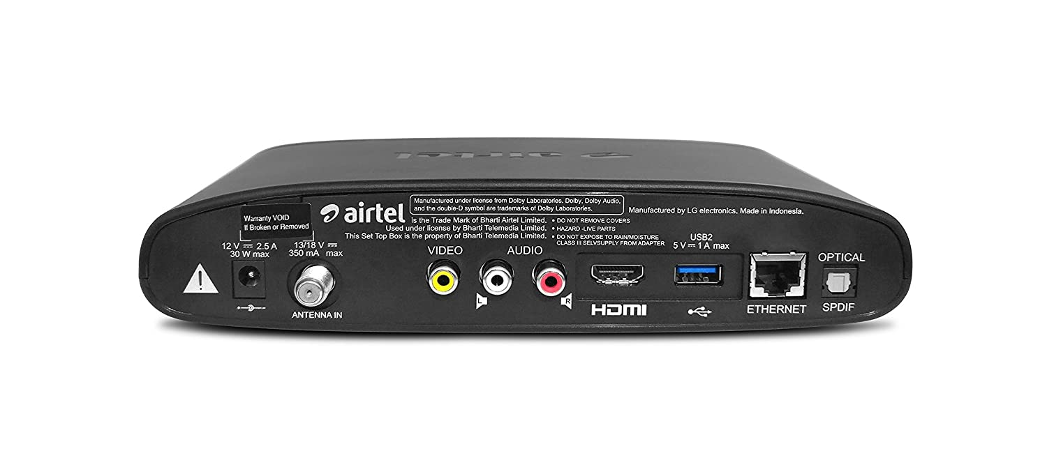Airtel Internet TV with 2 Months Full SD and HD Channels Subscription