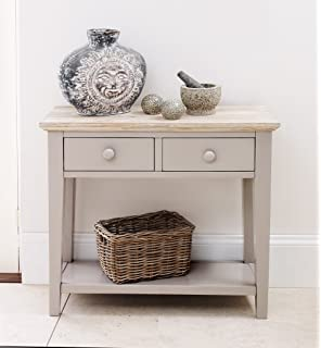 Florence Console Table With 2 Drawers, Sturdy Hall Table In Stunning  TRUFFLE Colour