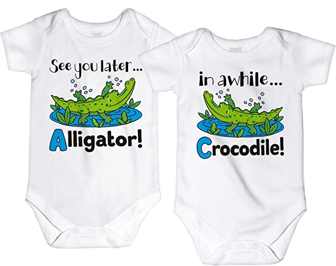 Amazon.com: carefreetees See You Later Alligator Mellizos ...