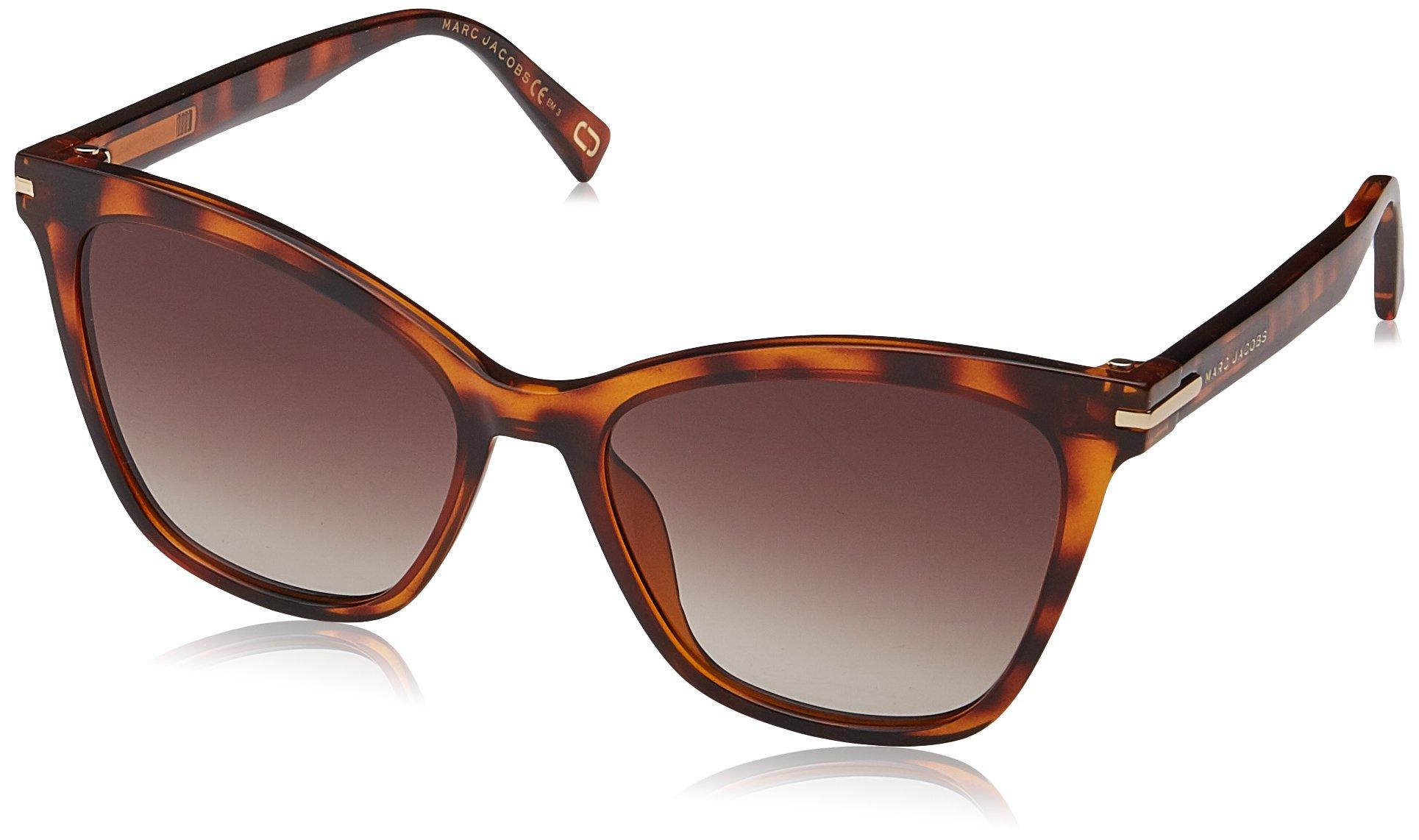 Marc Jacobs Women's Flat Top Sunglasses, Havana Black/Back, One Size