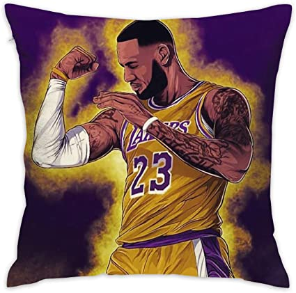Amazon Com Home Decor King Of La James Throw Pillow Covers Cushion Cases 18 X 18 Home Kitchen