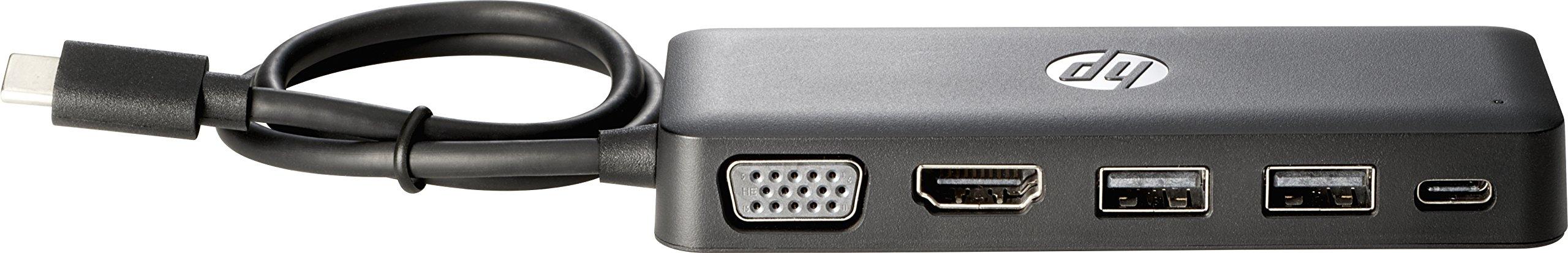 HP Z9G82AA Travel Hub - Port replicator - (USB-C) - for Chromebook 13 G1, EliteBook x360, Pro x2, Spectre Pro 13 G1, ZBook 15 G4, 17 G4, Studio G4 by HP