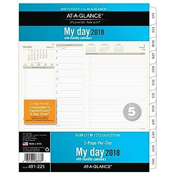 AT-A-GLANCE día Runner diario planificador Recambio, dos ...