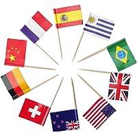 International Toothpick Flags, Cupcake Topper Picks, Cocktail Picks, Various Countries, 200Pcs