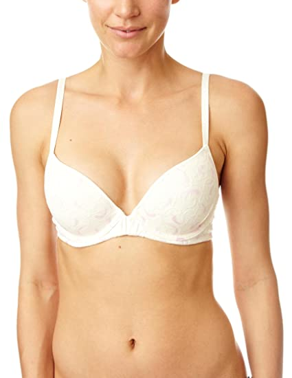 DKNY - Sujetador con bordados para mujer, talla 95D, color Hueso (Winter White