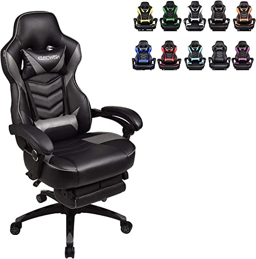 Gaming Chair High-Back PU Leather Racing Chair Ergonomic Computer Desk Executive