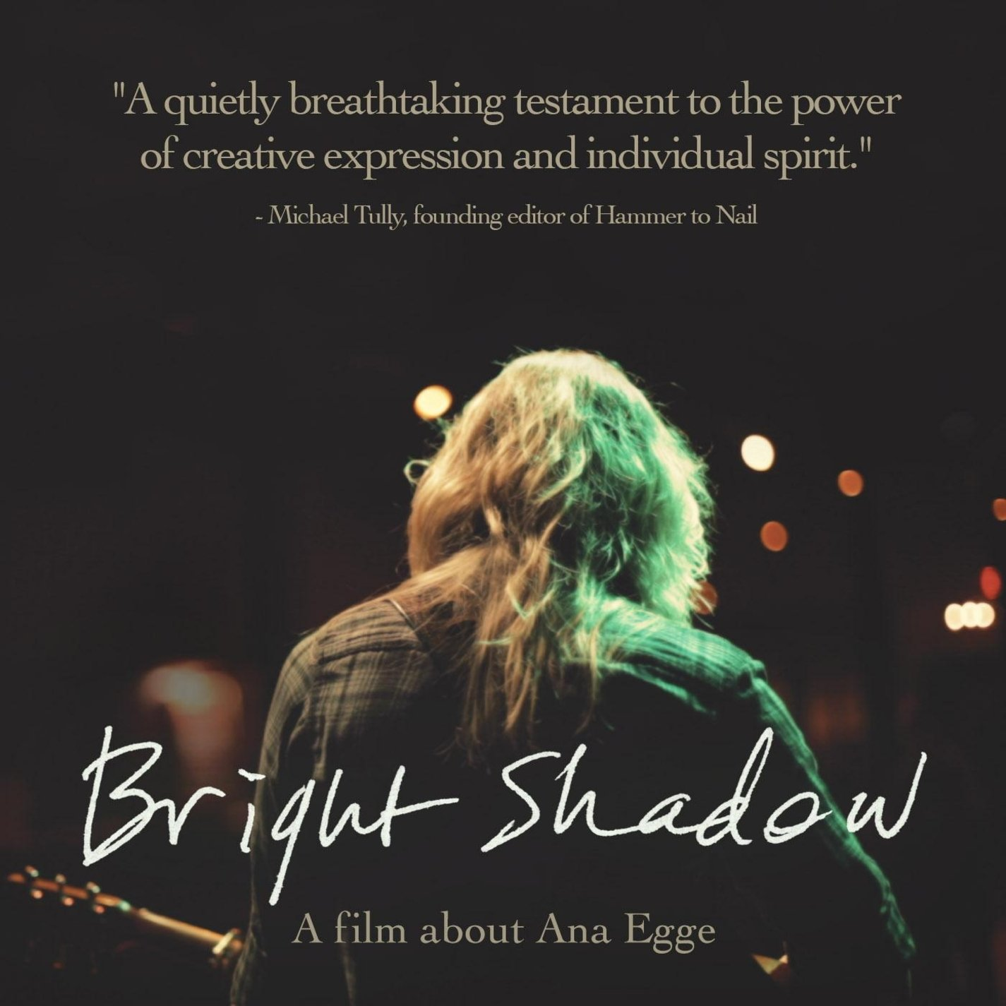 DVD : LYDA, JESSE - Bright Shadow Documentary, A Film About Ana Egge (DVD)