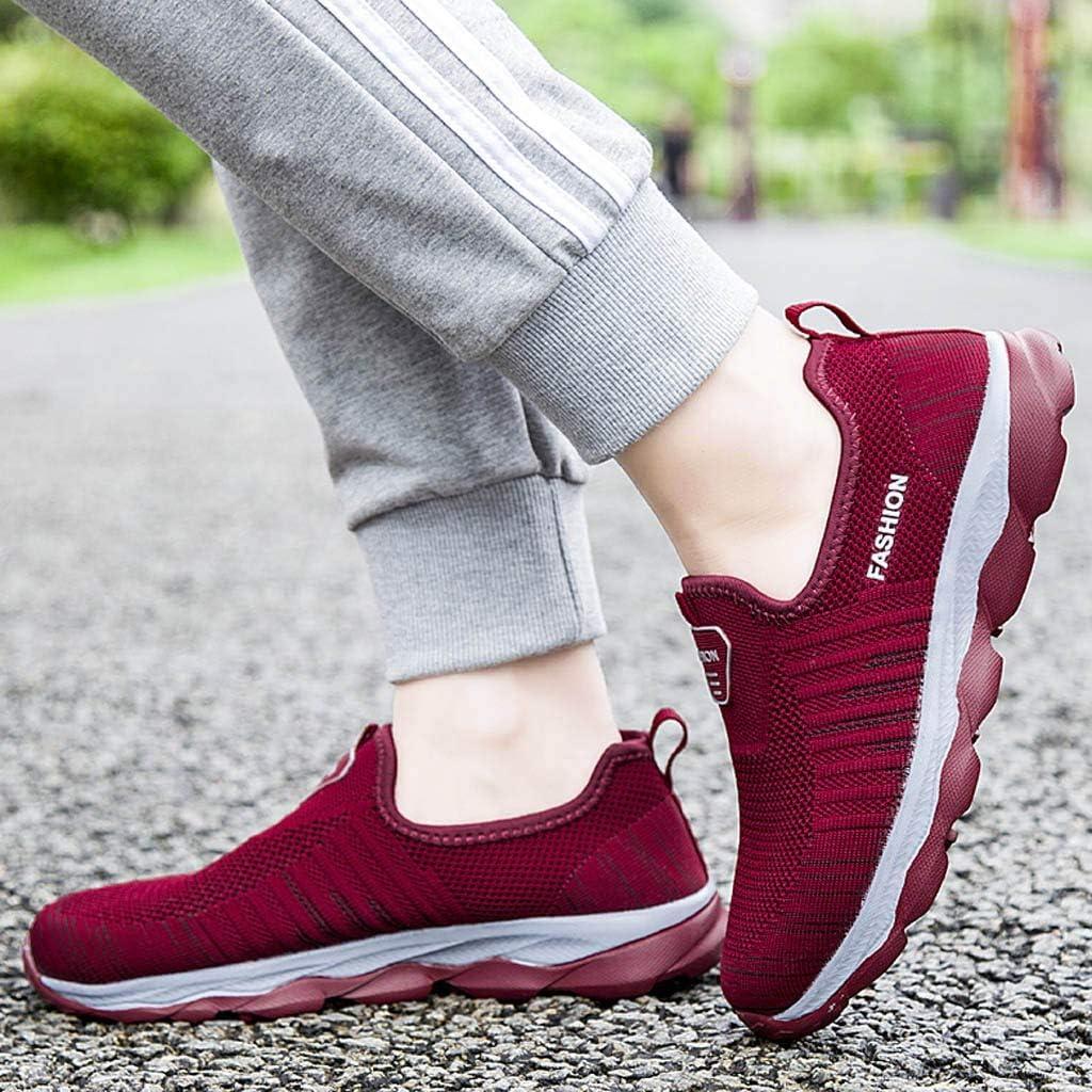 Damen Slip Ons Sneaker Laufschuhe Leichte Atmungsaktiv