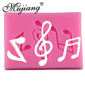 In Style; Mujiang 3d Music Notes Silicone Fondant Molds Sugarcraft Cake Decorating Tools Candy Fimo Clay Chocolate Gumpaste Moulds Fashionable