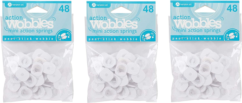 Hampton Art AWSM048 Action Mini Wobble Spring 48//Pkg Fоur Paсk