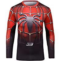 Cody Lundin Homme T-Shirt Collant Manches Longues Super Héros Sport Chemise