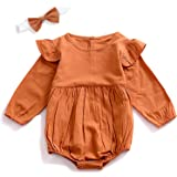 Zefeng Easter Infant Baby Girl Twins Long Sleeve Ruffles Romper Bodysuit Outfit Clothes