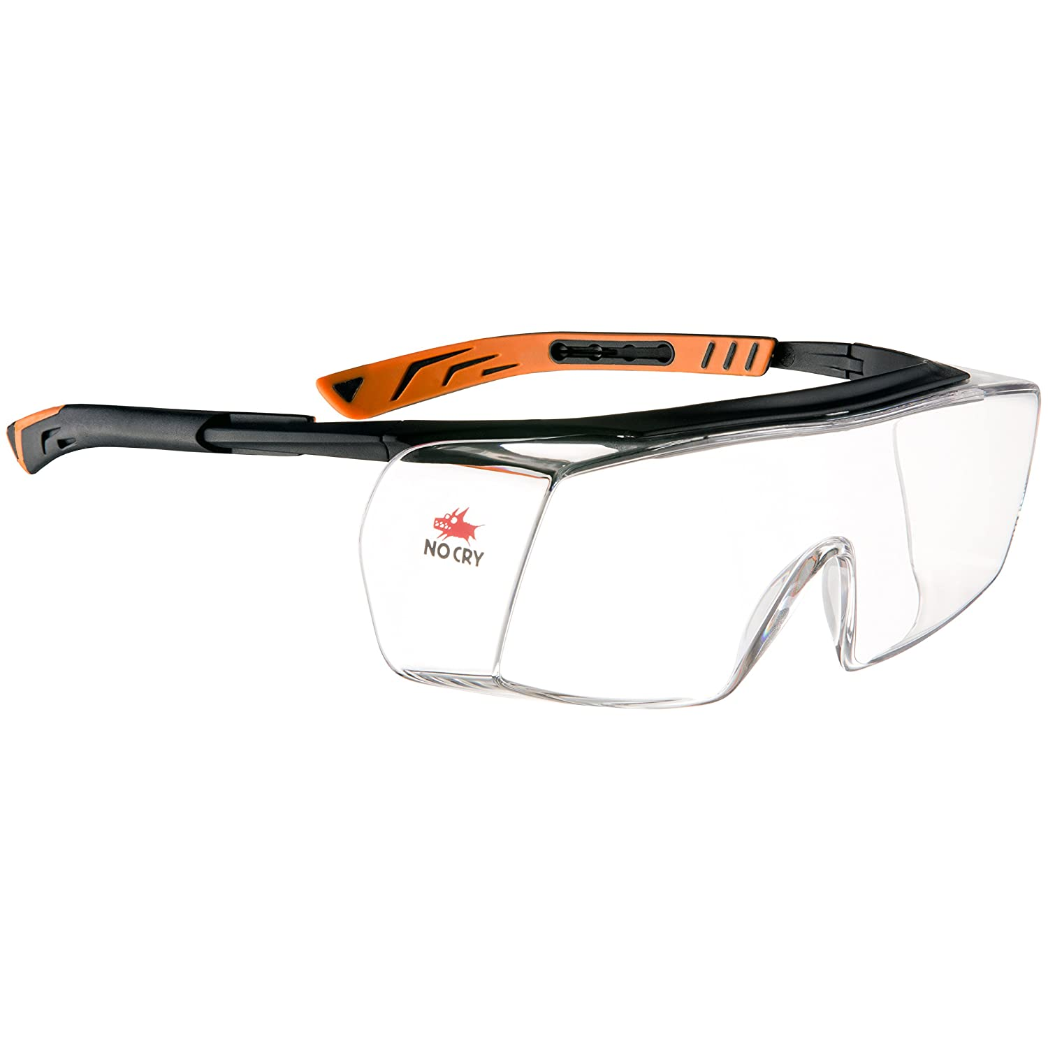 91585dafbab85 NoCry Over-Spec Safety Glasses with Anti Scratch Wrap-Around Lenses ...
