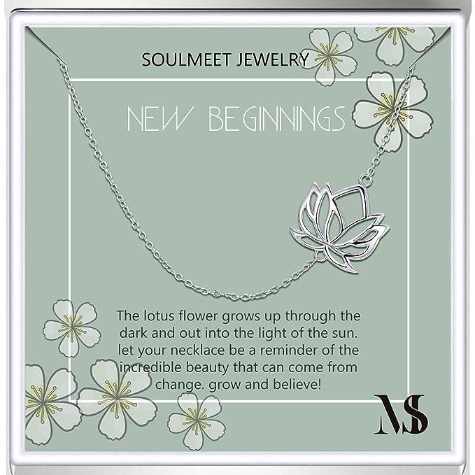 Amazon.com: Collar de plata de ley con diseño de flor de ...