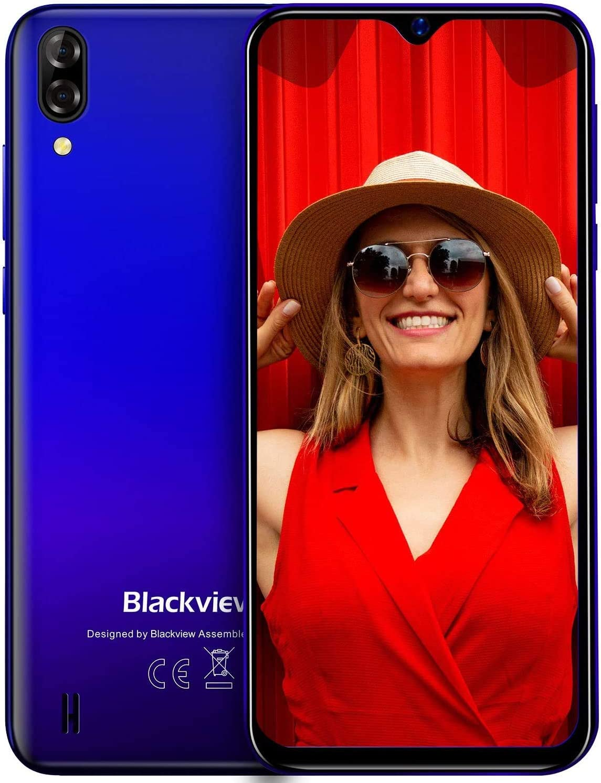 Blackview A60 Teléfono Móvil 16GB ROM (128GB SD), Pantalla 6.1