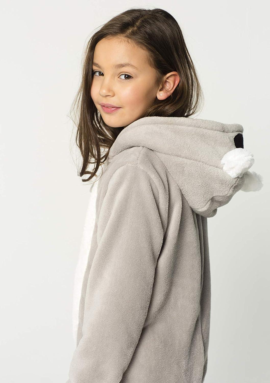 Tailles 110-116-158-164 Gris LOLALIZA Combinaison Pyjama Koala Unisexe Beige Et Blanc