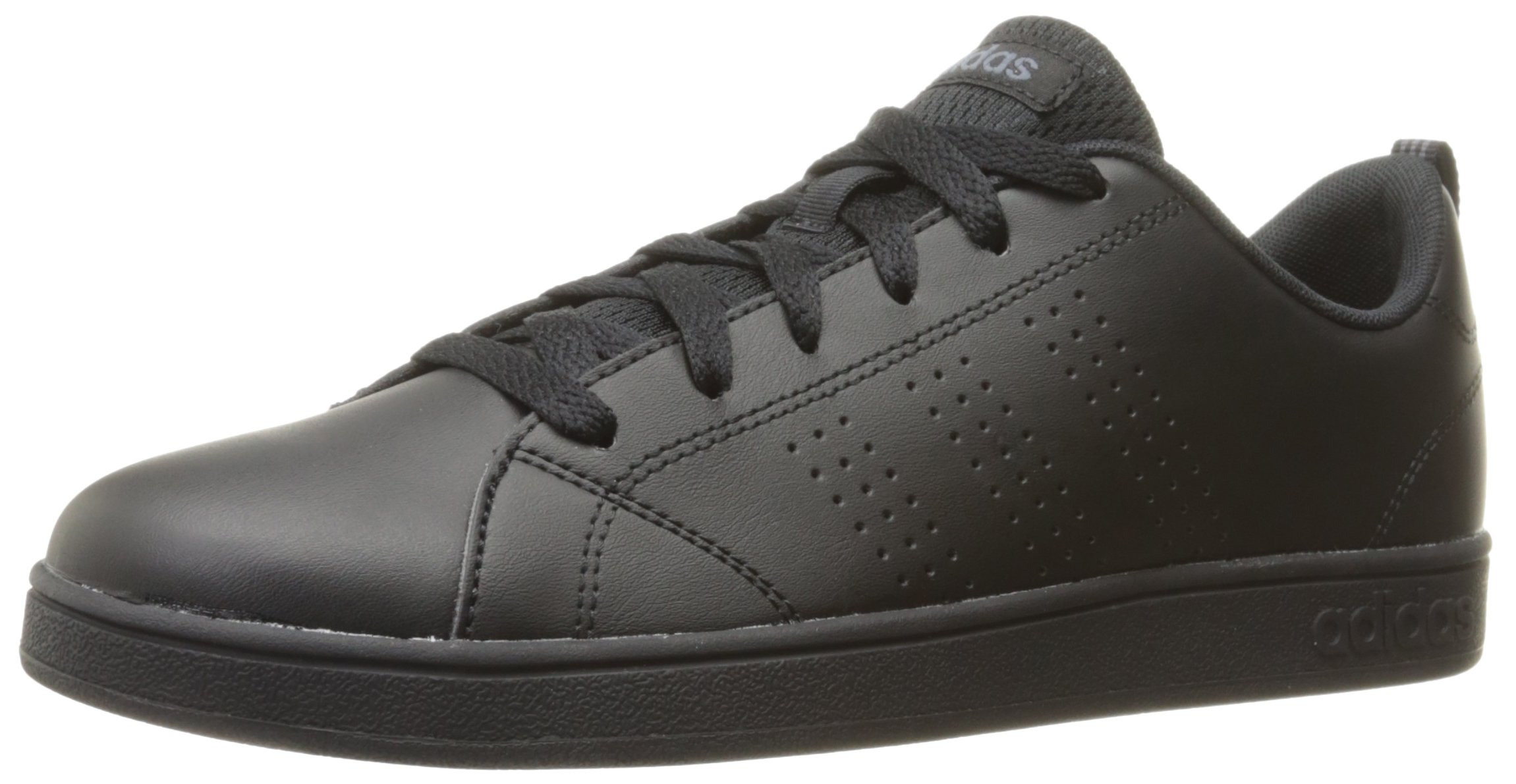 adidas Kids' VS Advantage Clean Sneaker, Black/Black/Onix, 4 M US Big Kid