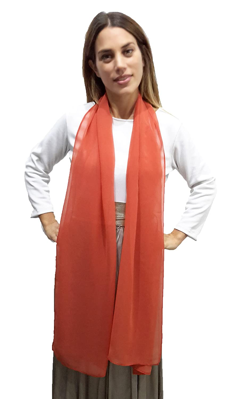 BRANDELIA Chiffon Schal Stola Ideal zum Sommerkleid oder Abendkleid. Elegante Chiffontücher, Verschiedene Farben