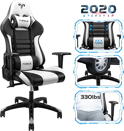 Furgle Gaming Chair Racing Style High-Back Office Chair - Both for Gamers and Office Workers