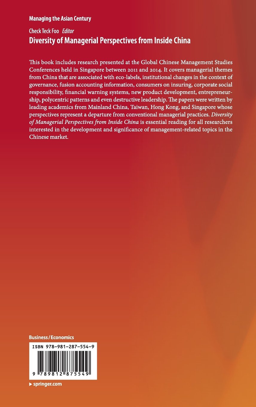 Buy Diversity of Managerial Perspectives from Inside China (Managing the Asian  Century) Book Online at Low Prices in India   Diversity of Managerial ...