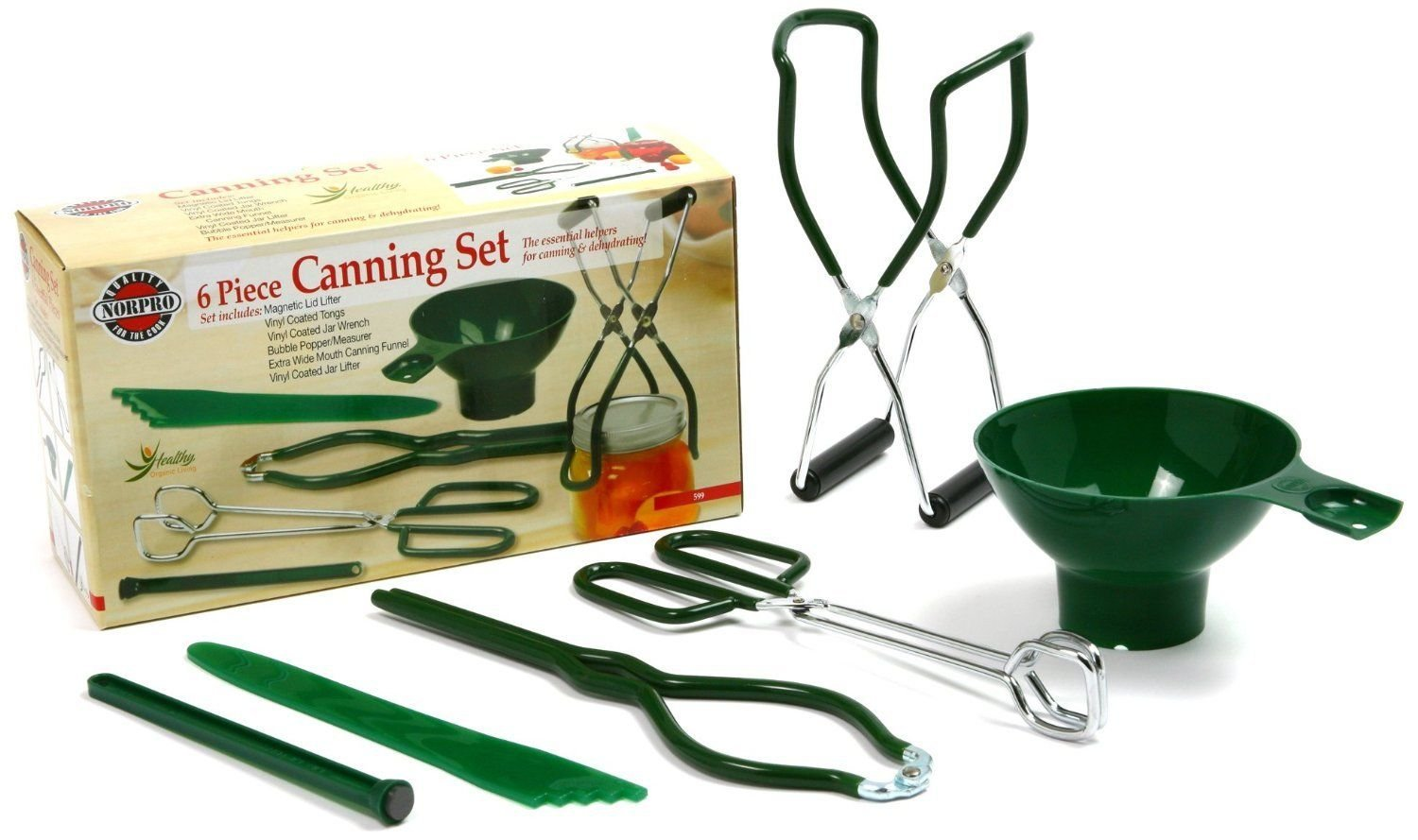 Norpro 6 Piece Canning Set, Canning Supplies, Preserving, New,