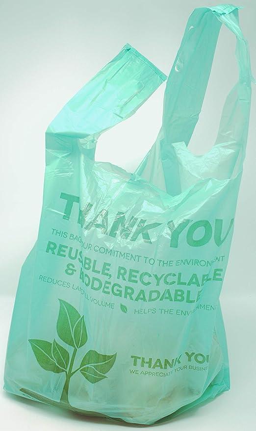 Camiseta de plástico biodegradable con bolsas de agradecimiento ...