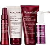 Keranique 30 Day Hair Regrowth System Deep Hydration(Scalp Stimulating Shampoo and Volumizing Keratin Conditioner 4.5 oz, Lift and Repair Treatment Spray 2.0 oz and Hair Regrowth Treatment 2.0 oz)