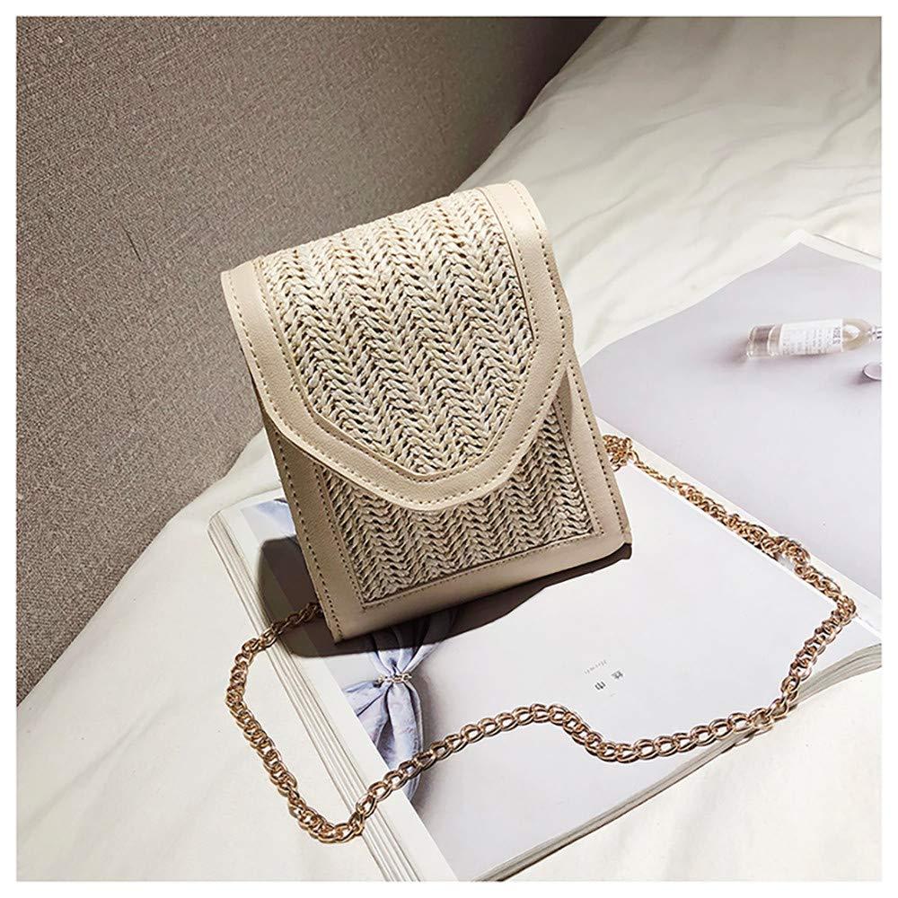 Rawdah/_Bolso Mujer Bandolera Bolso Bolso Hombro Peque/ños Bolso de lino colgado de un solo hombro para mujer tres colores opcionales