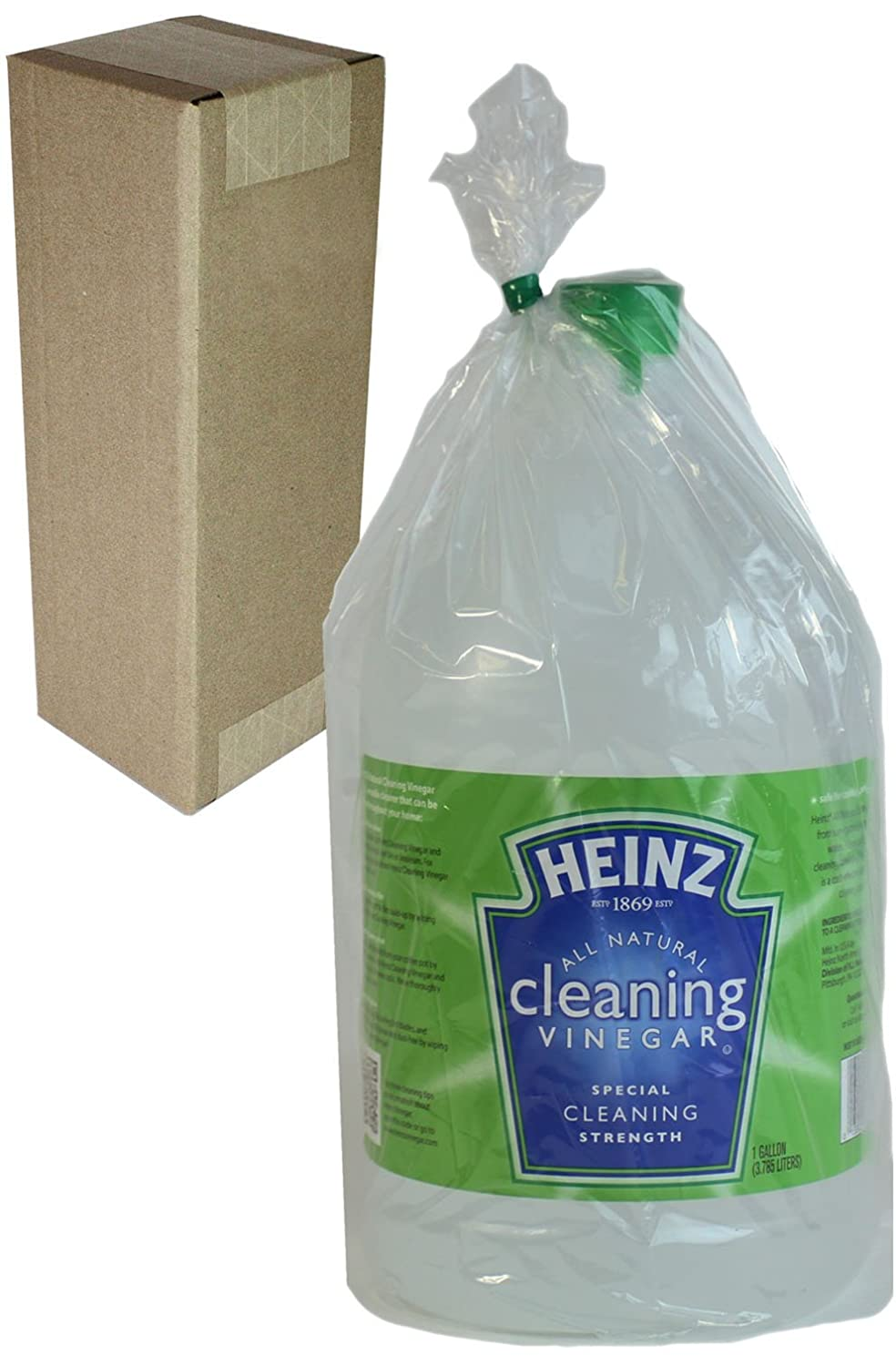 Heinz Multi-Purpose Cleaning Vinegar, 128 oz, 6% Acidity, Poly Bagged & Boxed