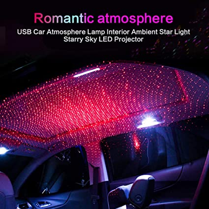 USB Plug /& Play LED Starry Sky Projector Lamp Star Light Car Night Decoration ED