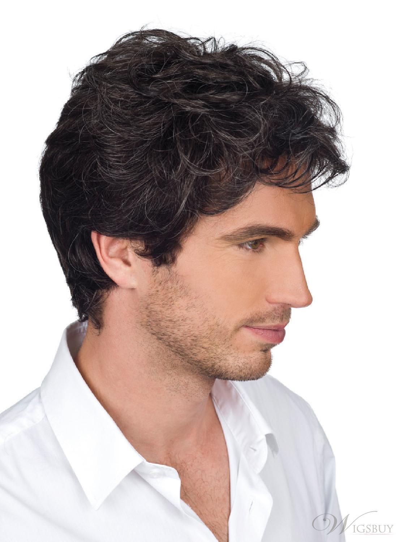 Amazon 100 Real Human Hair Costume Wigs For Men Fashion Short