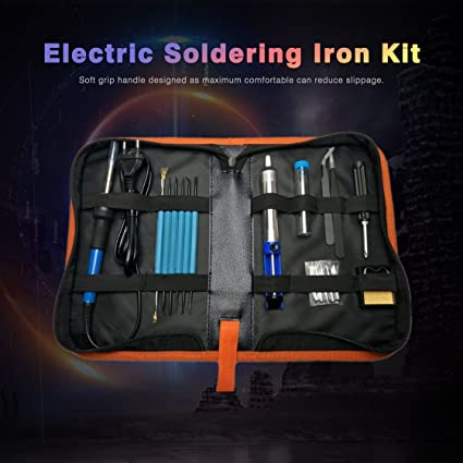 60W herramienta de reparación de soldadura de soldadura eléctrica kit de soldadura de temperatura ajustable