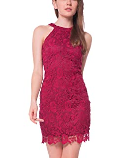 aacd4557d Zalalus Women's Cocktail Dress High Neck Lace Dresses for Special ...