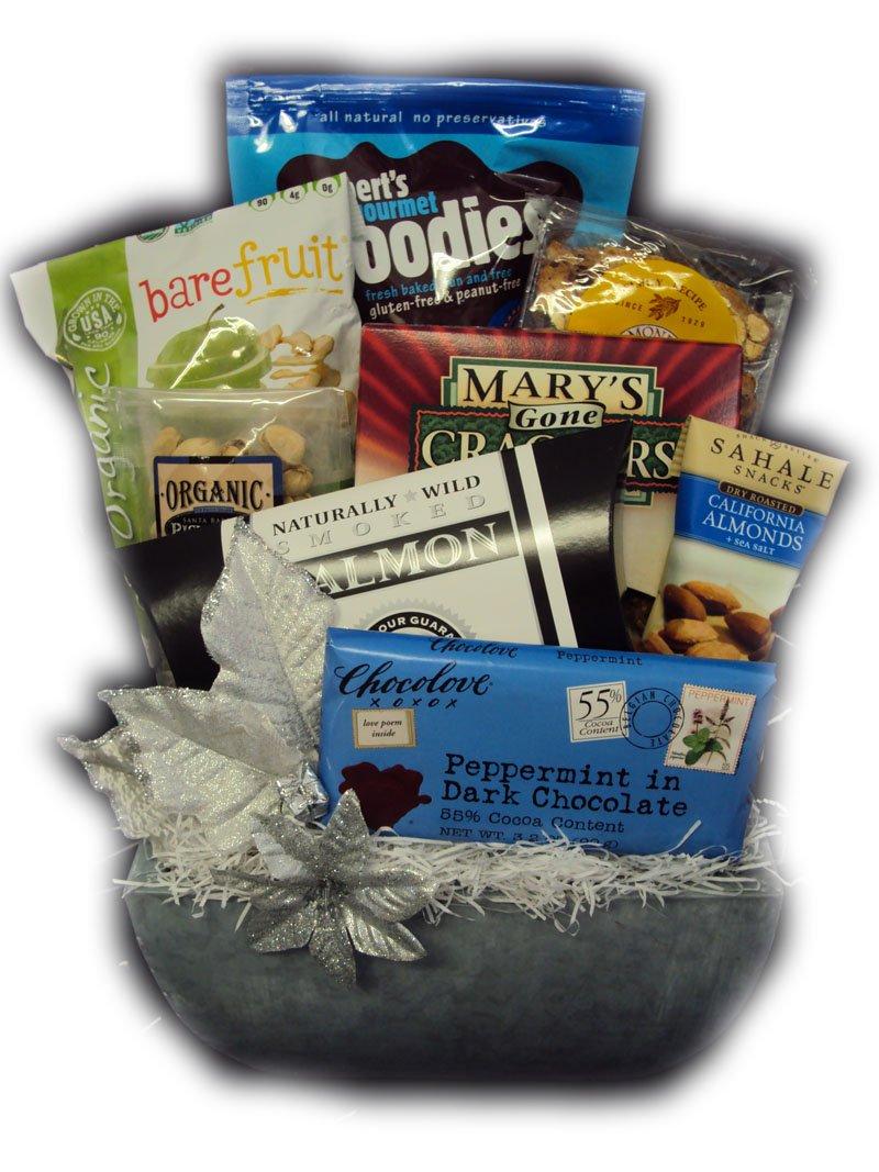 Healthy Kosher Hanukkah Basket by Well Baskets by Well Baskets