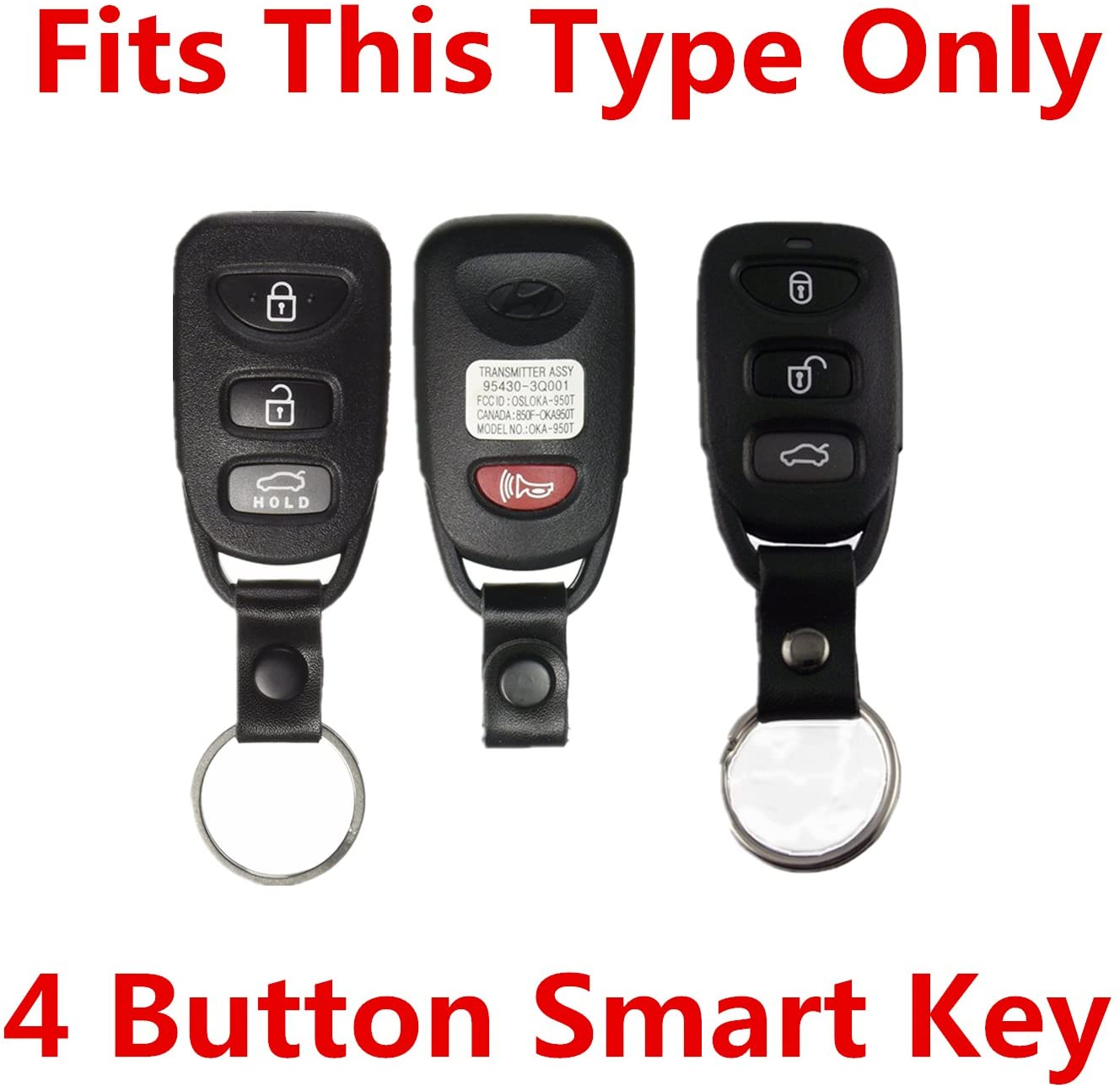 Pink Rpkey Silicone Keyless Entry Remote Control Key Fob Cover Case protector For Hyundai Accent Elantra Sonata Kia Optima Rondo Spectra 95430-2G202 95430-3X500 95430-3K200 95430-3K201 OSLOKA-310T