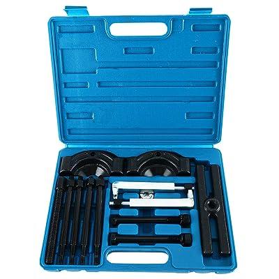 8milelake Gear Puller and Bearing Separator Splitter Tool 14PC Vehicle Gear, Pulley, Steering Wheel, Ball Bearing Set: Automotive