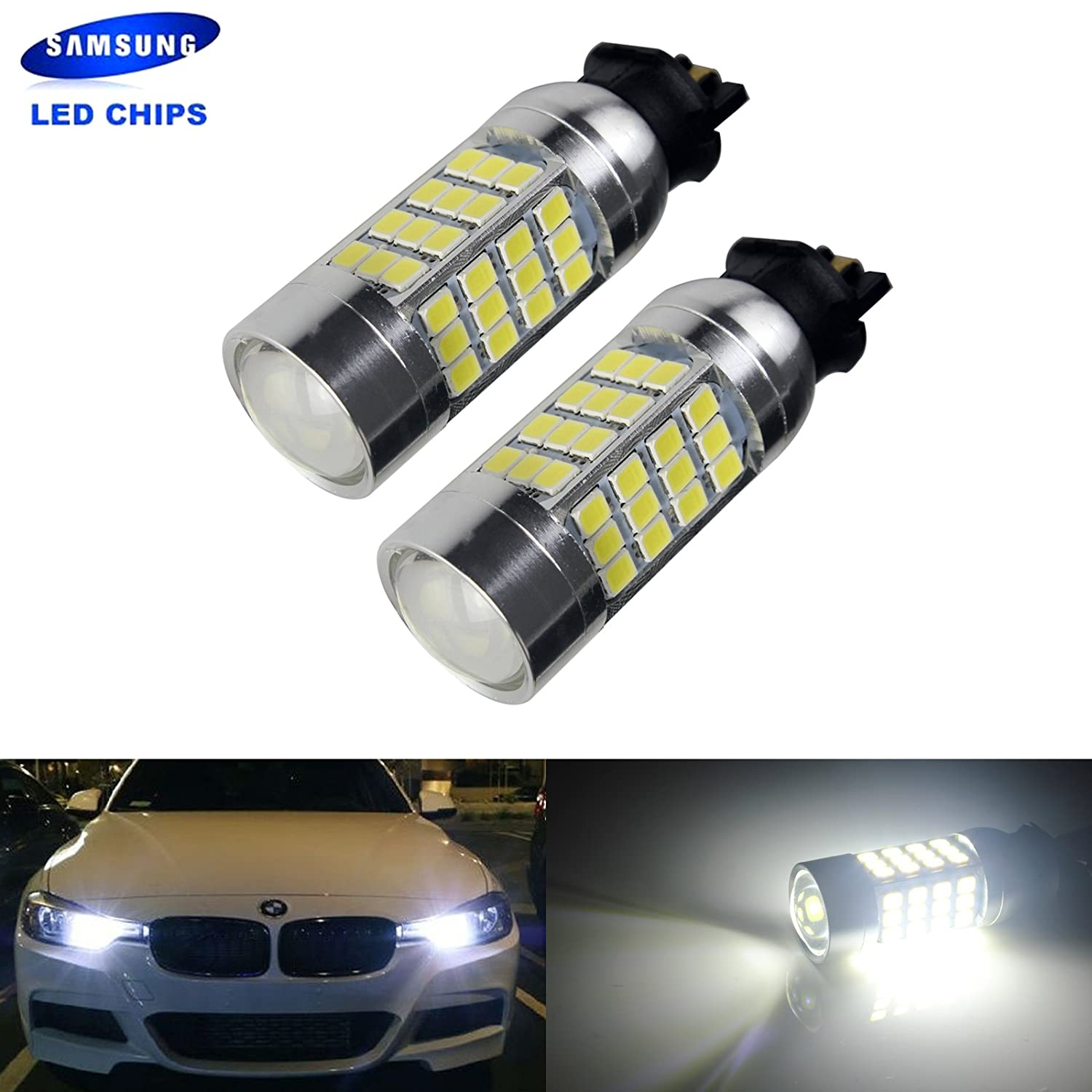 ANG Rong 2 x PW24 W bombilla Samsung 45 W LED DRL luz diurna: Amazon.es: Coche y moto