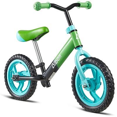 Kids Balance Bike Toddler No-Pedal Balance Bike for 2-5 Years Old Red Lightweight Training Bike with Adjustable Seat