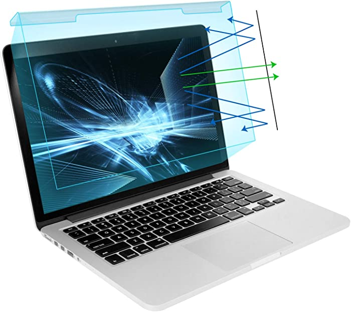 MOSISO 13-13.5 inch Laptop Blue Light Blocking Screen Protector Anti-UV Eye Protection Filter Film for Diagonal 13, 13.3, 13.5 inch 16:9 Widescreen Notebook LED Monitor Panel(11.89 x 7.83 inch/L x W)