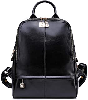 eed7bd2569 BOYATU Genuine Leather Backpack Purse for Women Fashion Travel Rucksack  Ladies Daypack
