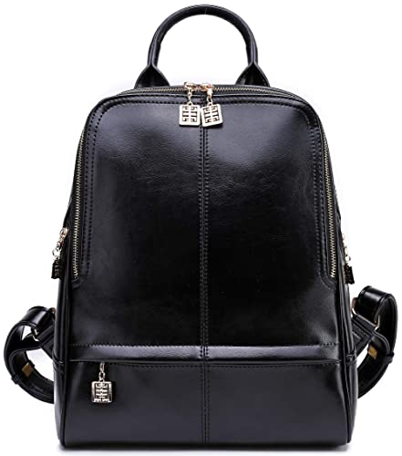 e023bc3f86 Amazon.com  BOYATU Leather Backpack for Women Fashion Travel Purse School  Bag Shoulder Bag (Black0)  Shoes